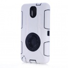 Protective Shock Proof Silicone Back Case Cover w/ Ring Holder for Samsung Note 3 N9000 - White