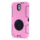 Protective Shock Proof Silicone Back Case Cover w/ Ring Holder for Samsung Note 3 N9000 - Pink