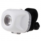 KOMAES PL656-G 120lm 2-Mode Cool White LED Bike Bicycle Light Headlight - White + Black (3 x AAA)