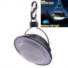 NEJE Portable 60lm White LED Outdoor Camping Light / Tent Night Lamp - Black (3 x AAA)