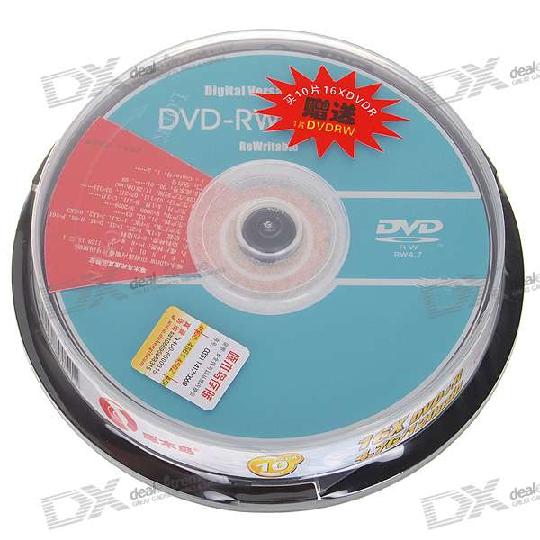 Genuine Woodpecker DVD+R 16X 4.7GB 120-Min DVD Writable (10-Disc Spindle)