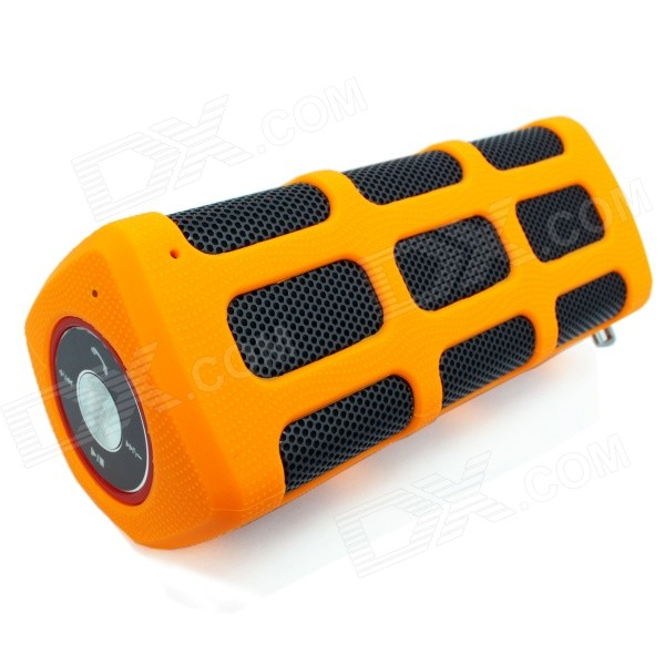 7220S Portable Bluetooth V4.0 Hi-Fi Outdoor Speaker - Black + Orange