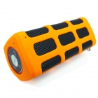 Portable Bluetooth V4.0 Hi-Fi Outdoor Speaker w/ Mic / USB 2.0 for Phone / Laptops - Black + Orange