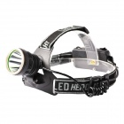 KOMAES PL663 Outdoor Cycling Camping 380lm 3-Mode White Light Headlamp - Black (2 x 18650)