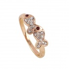 Women's Fashionable Fish Style Rhinestone Studded Ring - Gold (US Size: 7)