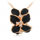 Rshow 18K RGP Alloy Flower Shaped Necklace - Golden