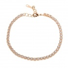 Rshow 18K RGP Alloy Decorated Stylish Design Bracelet - Golden
