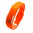 Stilvolle LED-Anzeige Digital-Armbanduhr w / Silikon-Band - Orange