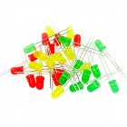 5mm LED Light-Emitting Diodes Set - Red + Yellow + Green (30 PCS)