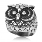Unique Owl Style 316L Stainless Steel Ring - Silver (US Size: 8)