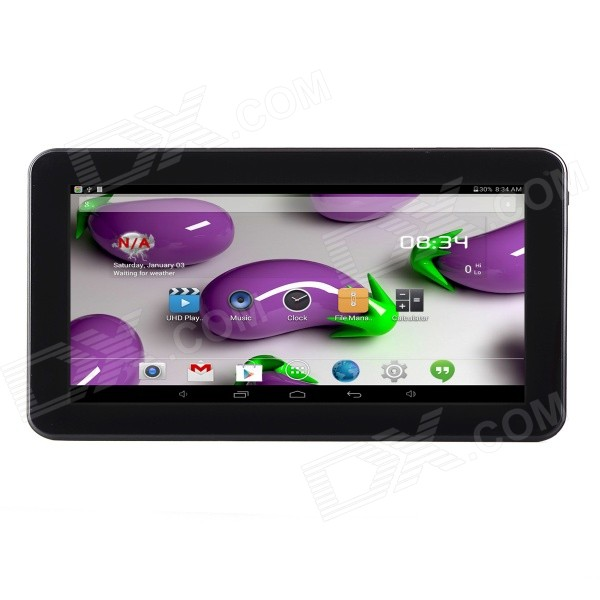 "AM-01 10,1"" quad-core android tablet w / 1GB RAM, 8GB ROM - zwart"