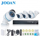 JOOAN 704NVR 4CH Outdoor Surveillance CCTV System ,4CH POE NVR+4pcs POE IP Camera Plug and Play