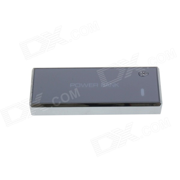 Universal 5200mAh Power Bank for IPHONE, Cellphone - White + Silver