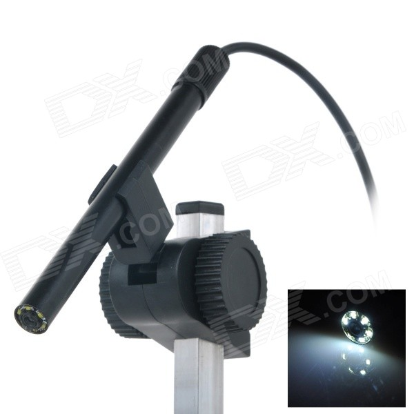 USB Powered 600X Magnification Biological Microscope - Black
