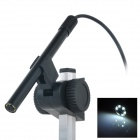 USB Powered 600X Magnification White Light 6-LED Professional Biological Microscope - Black
