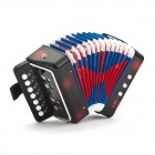 Small-Sized Accordion for Children / Kids - Black + Red + Multicolored