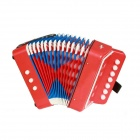 Small-Sized Accordion for Children / Kids - Red + Blue + Multicolored