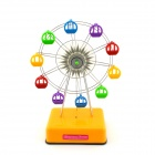 Rotating Ferris Wheel Style Music Box w/ LED - Yellow + Silver + Multicolored (2 x AA)