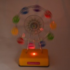 Rotating Ferris Wheel Style Music Box w/ LED - Yellow + Multicolored