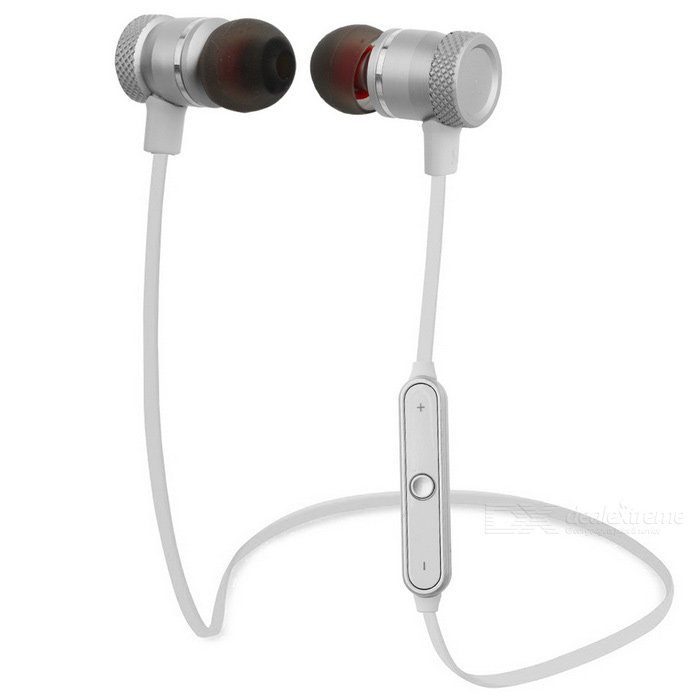 Sport Bluetooth V4.0 In-Ear Stereo Headset Earphone w/ Mic - White