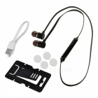 Sporty Bluetooth V4.0 In-Ear Stereo Headset w/ Microphone - Black