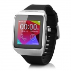 "P6 GSM Smart Watch Phone w/ 1.54"", Quad-band, GPS, Bluetooth, 0.3MP Camera - Black + Silver"