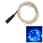 3W 85lm 490 nm 50-LED-Blaulicht String - Silvery Black (5M / DC 12V)