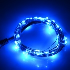 3W 85lm 490nm 50-LED Blue Light String - Silvery Black (5M / DC 12V)