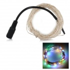 3W 85lm 50-LED String luz colorida - preto + prata (5m / DC 12V)