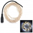 5W 85lm 6500K 100-LED White Light String - Silvery Black (10M / DC 12V)