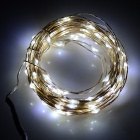 5W 85lm 6500K 100-LED White Light String - Silvery Black (10M)