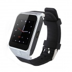 "G5 1.5 ""kapazitiver Touch Screen GSM Watch Phone w / Bluetooth V3.0, FM, GPS, TF-Karte - Schwarz + Silber"