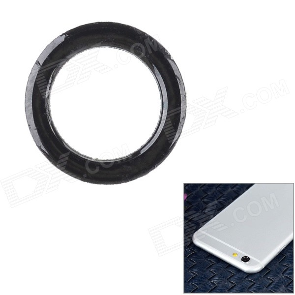 Protective Aluminum Alloy Lens Guard Ring Sticker for IPHONE 6 - Black