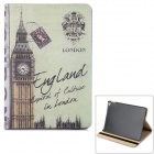 big ben mønster PU + PC auto sleep sak for iPad Air 2