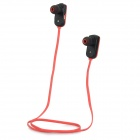 GFIVE E6 Bluetooth V3.0 In-Ear Sports Mini Headphone w/ Microphone / USB - Red + Black