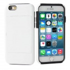 Protective Silicone Back Case w/ Stand for IPHONE 6 PLUS - White