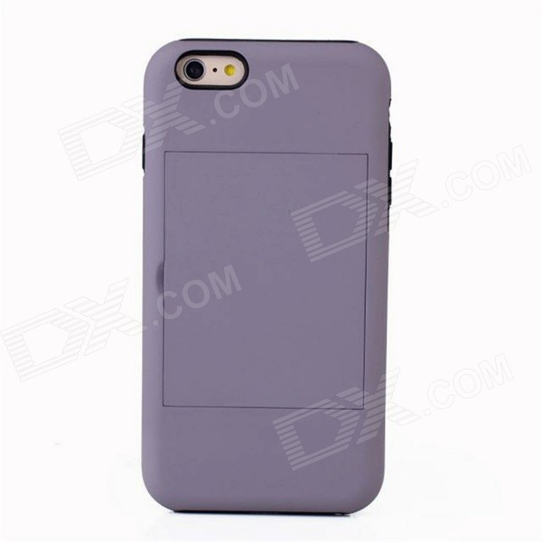 Protective Silicone Back Case w/ Stand for IPHONE 6 PLUS - Gray