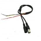 BNC Female + DC Female Power Cable for Monitoring - Black (60cm)