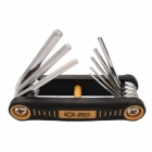 BESTIR BST-94411 8-in-1 Folding Hex Wrench Set - Musta + Keltainen
