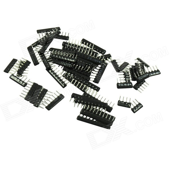 DIY 2,54 mm reta Resistor Pack Set - preto (58pcs)