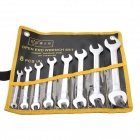 BESTIR BST-97308 6~24mm Matte Dual-Head Wrench Spanner Hand Tools Set - Silver