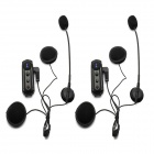 BT-S1 auricular del intercomunicador del casco de la motocicleta de Bluetooth del Interphone Bluetooth de 2 * 1000m
