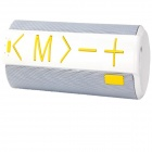 C06 Portable Wireless Mini Bluetooth V3.0 Speaker w/ TF / Micro USB - White + Yellow
