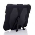 Silicone Case w/ Stand for Galaxy Tab 4 T230 / T231 / T235 - Black