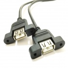 USB 1-to-2 USB 2.0 Baffle Adapter Cable - Black (31cm)