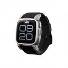 "Snopow W1 Waterproof Bluetooth 1.6"" Smart GSM Watch Phone w/ Alarm, Pedometer - Black + Silver"