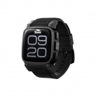 "Snopow W1 IP68 Bluetooth V3.0 1.6"" LCD Smart GSM Watch Phone w/ Alarm, Pedometer - Black"