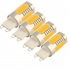 YouOKLight G9 5W 480lm 3000K 5-COB LED Warm White Light Lamps - Yellow + Silver (AC 96~265V / 4 PCS)