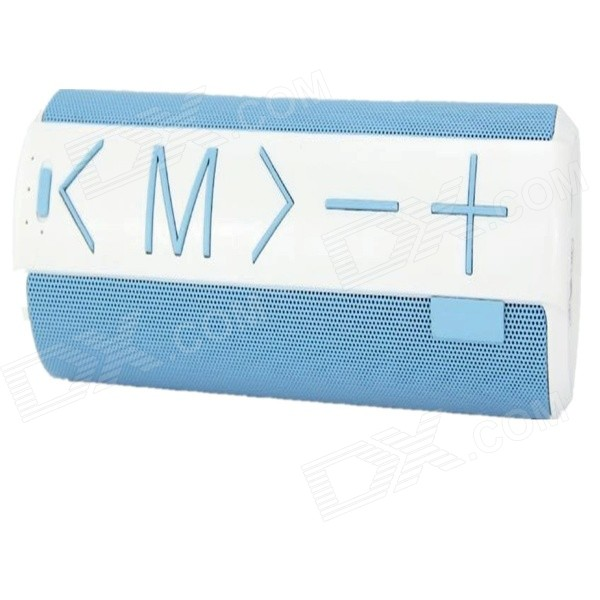C06 Portable Wireless Bluetooth V3.0 Speaker w/ TF - White + Blue