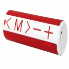 C06 Portable Wireless Mini Bluetooth V3.0 Speaker w/ TF / Micro USB - White + Red